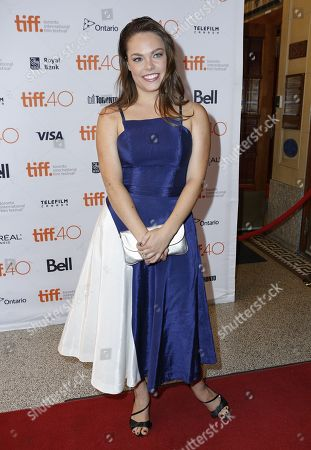 "Stock Image of Claire Glassford attends the premiere for ""The Family Fang"" on day 5 of the Toronto International Film Festival at Winter Garden Theatre, in Toronto"