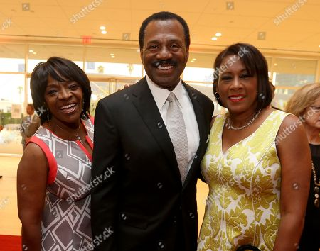 Pat Harvey, right and guests at the L.A. Area Emmy Awards presented at the Television Academy's new Saban Media Center, in the NoHo Arts District in Los Angeles