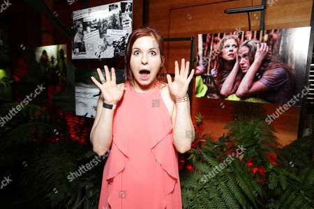"""Magda Apanowicz seen at Eli Roth and BH Tilt """"The Green Inferno"""" at 2015 Comic-Con, in San Diego"""