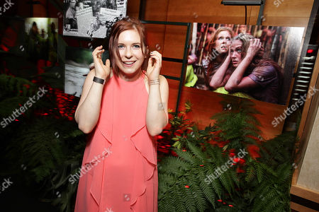 """Stock Image of Magda Apanowicz seen at Eli Roth and BH Tilt """"The Green Inferno"""" at 2015 Comic-Con, in San Diego"""