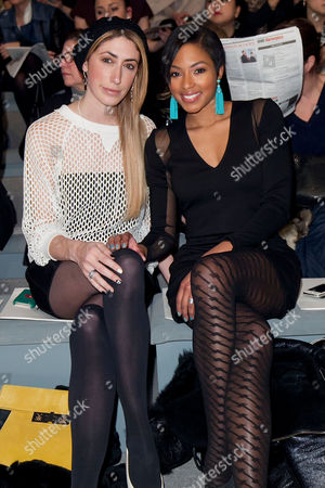 Stock Picture of Alicia Quarles and Stylist Lauren Rae Levy is seen at the Fall 2013 MILLY by Michelle Smith Runway Show, on in New York
