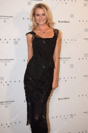 Elena Foley attends the 'Breath In' premiere, on in New York
