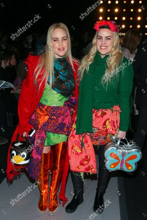 Cailli Beckerman, left, and Sam Beckerman, right, attend the BCBGMAXAZRIA NYFW Fall/Winter 2016 fashion show at Skylight at Moynihan Station 360, in New York