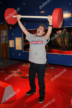 JULY 28: Reed Alexander visits the Miami Children's Museum's newest exhibit, MiChiMu's Summer Games, at Miami Childrens Museum on in Miami, Florida