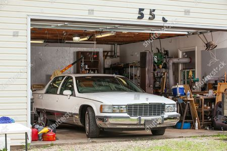 View of Rodney Dangerfield's 1994 Cadillac Fleetwood parked in the garage of twenty-one-year-old Ryan Harris of North Carolina who recently won the car, on in Kernersville, N.C. Harris won the car by entering a contest on www.rodney.com