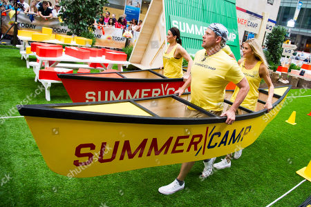 """Stock Picture of Michelle Schexnayder, from left, Justin Jackson and Brooke Mangum from the cast of the USA Network's """"Summer Camp"""" appear on NBC's """"Today"""" show on in New York"""