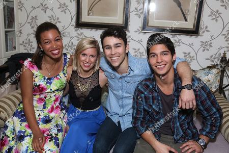 India Carney,Grace Webber, Max Schneider and Nick Spicy Brown at The YoungArts Reception held at The Miller Residence on Thursday, April, 18th, 2013 in Los Angeles