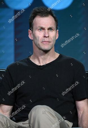 "Creator Peter Moffat participates in a panel for ""Undercover"" during the BBC America 2016 Winter TCA, in Pasadena, Calif"