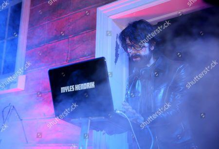 "EXCLUSIVE - DJ Myles Hendrik performs at AMC's season 4 premiere of ""The Walking Dead"" at Universal Studios, in Los Angeles"