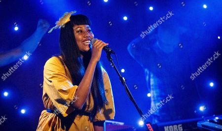 Indie pop singer and songwriter VV Brown performs at Madame JoJo's, to promote her second studio album Lollipops & Politics, in central London