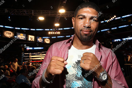 """Former boxer Winky Wright attends the """"Golden Boy Boxing Live! Presents Tarver vs Sheppard"""" on Tuesday, Nov., 26, 2013 at the BB&T Center in Sunrise, FL"""