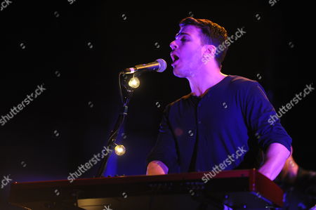 Michael Garner of Hunter Hunted performing at Verizon Wireless Amphitheatre, in Atlanta