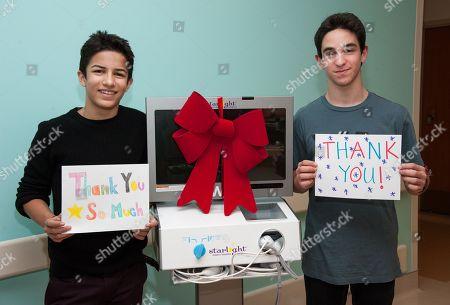 Stock Photo of Aramis Knight, left, and Zachary Gordon attend the Mattel Children's Hospital Starlight event on in Santa Monica, Calif
