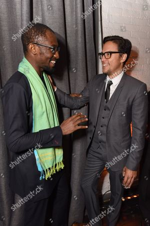 Author Uzodinma Iweala and Director/writer Cary Joji Fukunaga at the Netflix Celebration of the 2015 Toronto International Film Festival, in Toronto, Canada