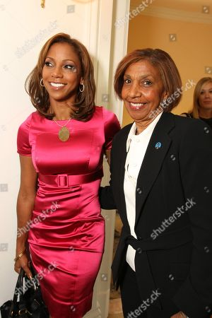 OCTOBER 23: Holly Robinson Peete and Dolores Robinson at People Magazine Luncheon honoring Children's Defense Fund's Marian Wright Edelman on at the Beverly Hills Hotel in Beverly Hills, CA
