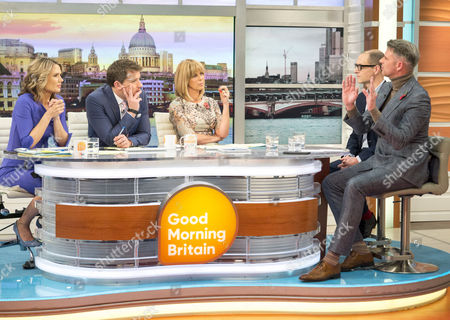 Stock Image of Charlotte Hawkins, Ben Shephard and Kate Garraway, Harry Wallop and Christian Howes