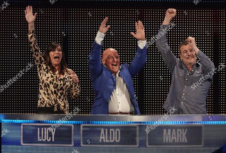 (l-r) Lucy Pargeter Aldo Zilli and Mark Billingham