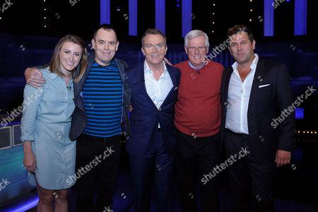 (l-r) Vicky Williams, Kevin Eldon host Bradley Walsh John Craven and Patrick Baladi
