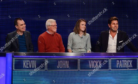 (l-r) Kevin Eldon, John Craven Vicky Williams, and Patrick Baladi