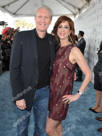 Chris McGurk and Nancy McGurk arrive at the 2014 Film Independent Spirit Awards,, in Santa Monica, Calif