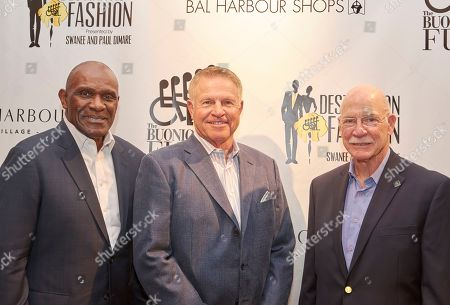 From left, Harry Carson, Hall of Fame football player, and former Super Bowl champions Brian Kelley and Dick Anderson attend Destination Fashion 2016 to Benefit the Buoniconti Fund to Cure Paralysis at Bal Harbour Shops, in Bal Harbour, Fla