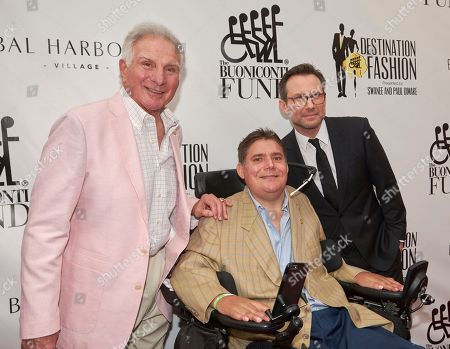 Hall of Famer Nick Buoniconti, from left, Marc Buoniconti, and Christian Slater attend Destination Fashion 2016 to Benefit the Buoniconti Fund to Cure Paralysis at Bal Harbour Shops, in Bal Harbour, Fla