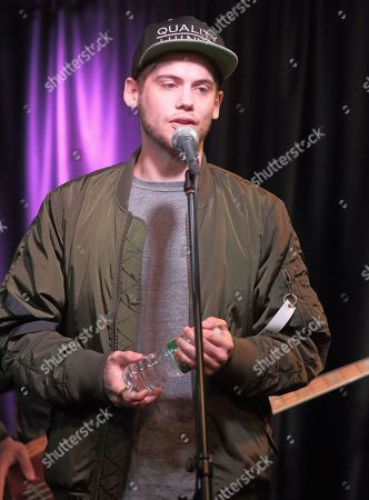 Tony Oller of the band MKTO visits the Q102 Performance Theater, in Philadelphia
