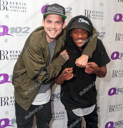 Editorial image of MKTO Visit Q102 - , Philadelphia, USA - 6 Jul 2015