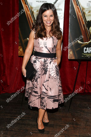"""Gretta Monahan attends a special screening of """"Cartel Land"""" hosted by The Cinema Society at the Tribeca Grand, in New York"""