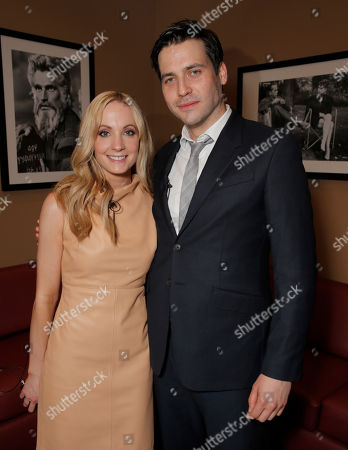 """Joanne Froggatt and Robert James-Collier attend An Afternoon with """"Downton Abbey"""" presented by the Television Academy at Paramount Studios, in Hollywood, Calif"""