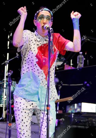 Stock Picture of Jo Lampert of Tune Yards performed in concert as part of the Arcade Fire tour at Aaron's Lakewood Amphitheatre on in Atlanta, Ga