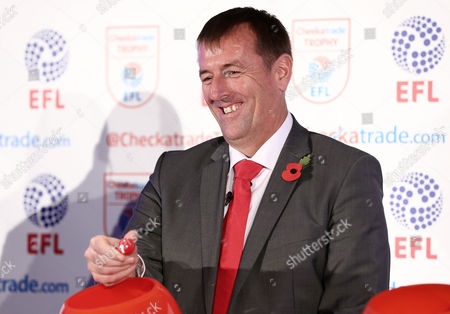Matt Le Tissier takes part in the second round draw.