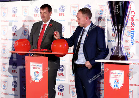 Matt Le Tissier and Steve Cooper take part in the second round draw.