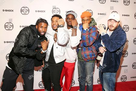 Cozy Boyz arrives at the G-SHOCK 35th Anniversary celebration inside The Theater at Madison Square Garden, in New York City