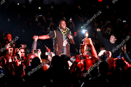 Stock Picture of A$AP Ferg. A$AP Ferg performs in the crowd at the G-SHOCK 35th Anniversary celebration inside The Theater at Madison Square Garden, in New York City