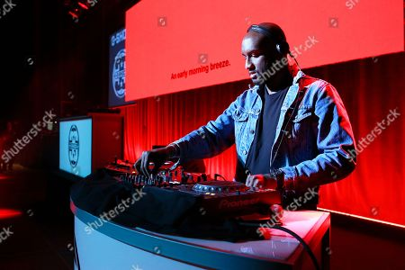 Virgil Abloh performs onstage at the G-SHOCK 35th Anniversary celebration inside The Theater at Madison Square Garden, in New York City