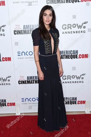 Mariela Garriga arrives at the 31st annual American Cinematheque Award at the Beverly Hilton Hotel, in Beverly Hills, Calif