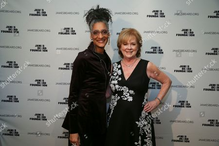 Carla Hall, Susan Ungaro. Chef Carla Hall and JBF President, Susan Ungaro seen at The JBF Gala: A Night of Award Winners at the Rainbow Room on in New York
