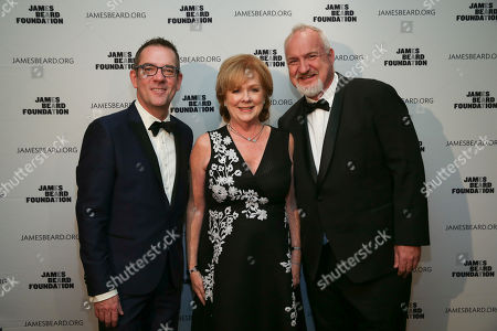 Ted Allen, Susan Ungaro, Art Smith. Ted Allen, JBF President, Susan Ungaro, Art Smith seen at The JBF Gala: A Night of Award Winners at the Rainbow Room on in New York