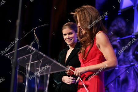 Stock Image of Kate Mara, Dylan Lauren. Kate Mara, left, and Dylan Lauren speak onstage at The Humane Society of the United States To the Rescue! New York Gala: Saving Animal Lives on in New York City. To the Rescue! is a benefit in celebration of the life-saving work of its animal rescue efforts across the nation and around the world. In its eighth year, the event honored Rob Thomas and Marisol Maldonado and their Sidewalk Angels Foundation, and Moroccanoil. The evening featured a performance by Rob Thomas
