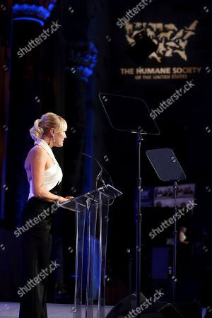 Malin Akerman presents the award for compassion in action onstage at The Humane Society of the United States To the Rescue! New York Gala: Saving Animal Lives on in New York City. To the Rescue! is a benefit in celebration of the life-saving work of its animal rescue efforts across the nation and around the world. In its eighth year, the event honored Rob Thomas and Marisol Maldonado and their Sidewalk Angels Foundation, and Moroccanoil. The evening featured a performance by Rob Thomas
