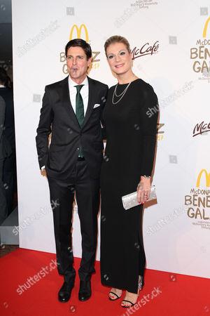 Maria Hoefl-Riesch and Ehemann Marcus Hoefl, .