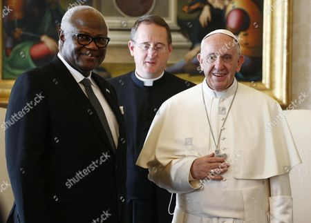 Pope Francis and Ernest Bai Koroma