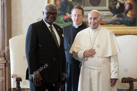 Pope Francis receives the President of the Republic of Sierra Leone Ernest Bai Koroma on a private visit