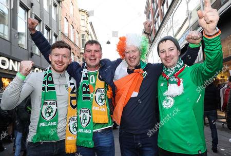 Adrian Ward, Shane Dunleavy, Luke Ronayne and Shane Byrne from Galway