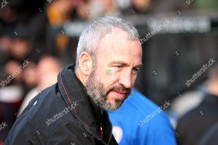 Cambridge Utd's manager Shaun Derry before the EFL Sky Bet League 2 match between Cambridge United and Accrington Stanley at the Cambs Glass Stadium, Cambridge