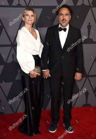 Alejandro Gonzalez Inarritu, Maria Eladia Hagerman. Alejandro Gonzalez Inarritu, right, and Maria Eladia Hagerman arrive at the 9th annual Governors Awards at the Dolby Ballroom, in Los Angeles