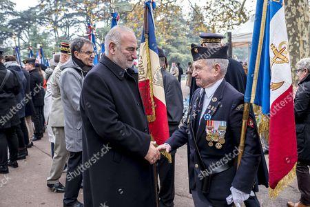 Georges Kepenekian and flag bearer