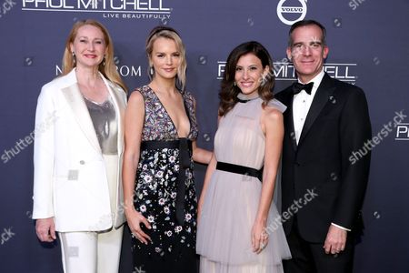 Amy Wakeland, Kelly Sawyer, Norah Weinstein and Eric Garcetti