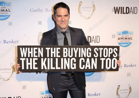 "Thomas Gibson arrives at the ""An Evening with WildAid"" event at The Beverly Wilshire, in Beverly Hills, Calif"